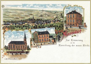 historische Postkarte Neuauflage © 2015 Heimat- und Bürgerverein Nierendorf e. V.